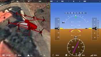 tablero de mandos del drone de pasajeros