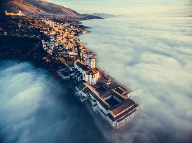 Assisi Over the Clouds