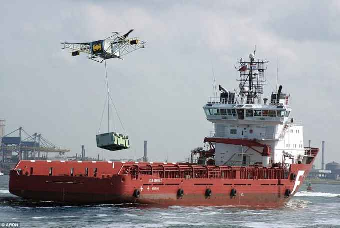 SKYF carga para un barco