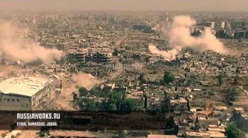 combates en Siria filmados por un Drone