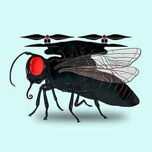 drone con el ojo de un insecto