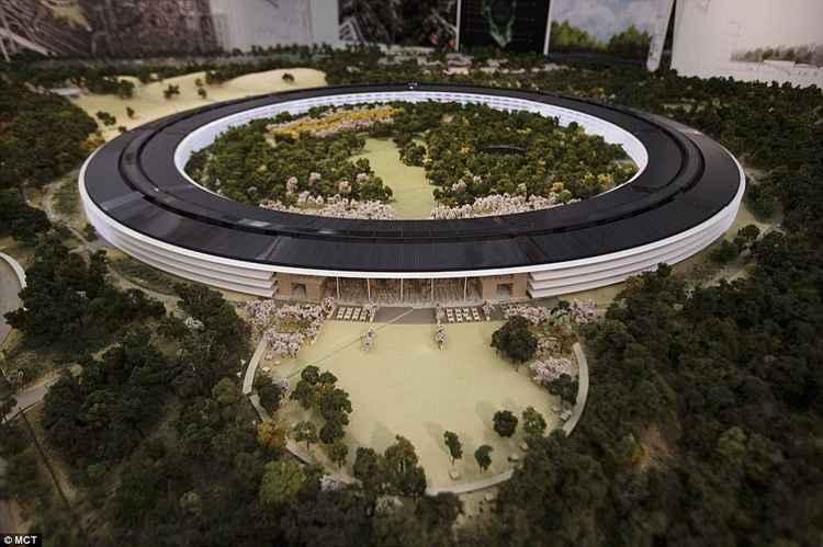 edificio del Campus de Apple, maqueta