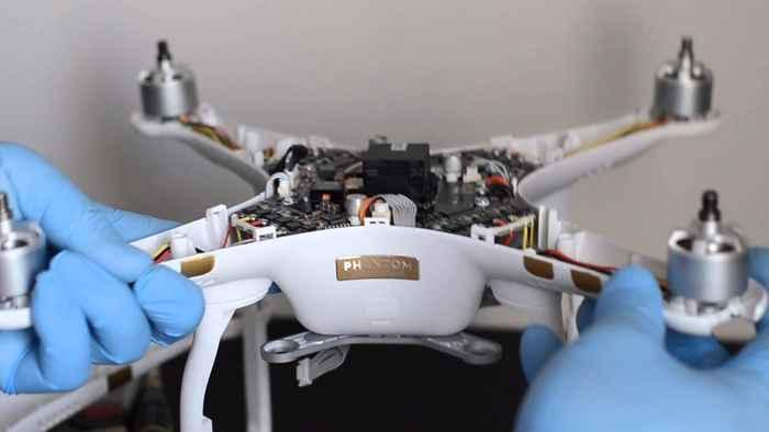 reparación de un drone